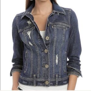 [G by Guess] Distressed denim jean jacket